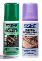 NIKWAX set Footwear Cleaning Gel + Fabric and Leather Proof 2x125ml