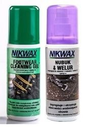 NIKWAX set Footwear Cleaning Gel + Nubuk&Suede Proof 2x125ml